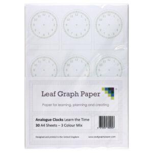 analogue clock template teaching resource